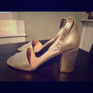 L.K. Bennett Hester Block Heel, soft gold, leather